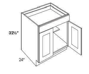 2 Door 1 Drawer Base Cabinets-HA