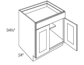 1 Drawer 2 Door Base Cabinets