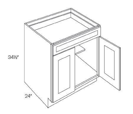 2 Door 1 Drawer Base Cabinets