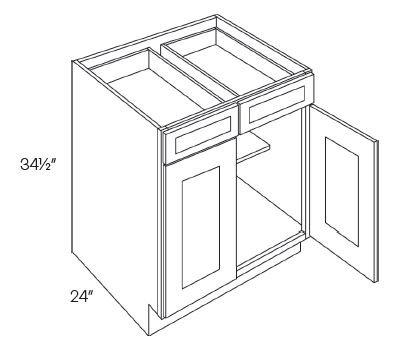2 Door 2 Drawer Base Cabinets