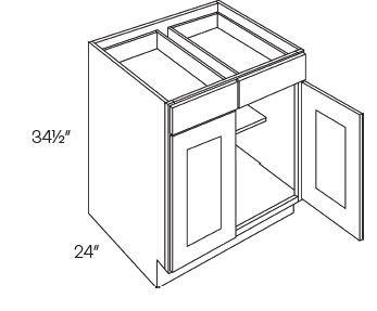 2 Drawer 2 Door Base Cabinets