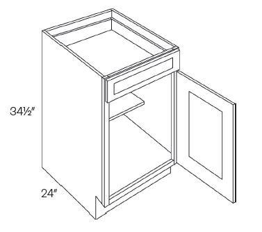 1 Door 1 Drawer Base Cabinets