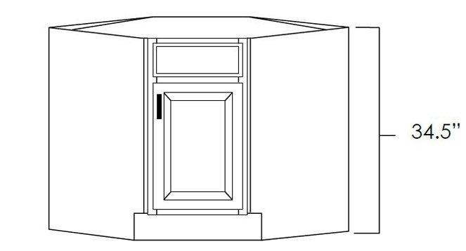 Diagonal Corner Sink Base Cabinet
