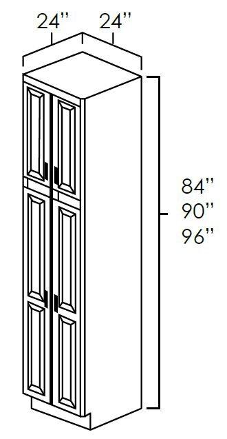 "24"" Wide Utility Cabinets-4 Doors"