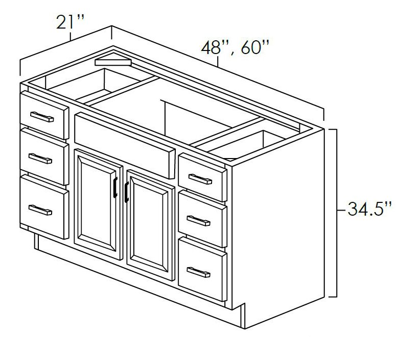 Double Door Vanity Cabinets